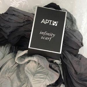 Apt. 9 Infinity Scarf Black Gray Ombré